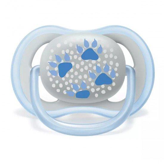Philips AVENT Ортодонтични залъгалки Ultra Air + стерилизаторна кутия (6-18м), ЛАПИ/МЕЧЕ, 2 бр./оп.