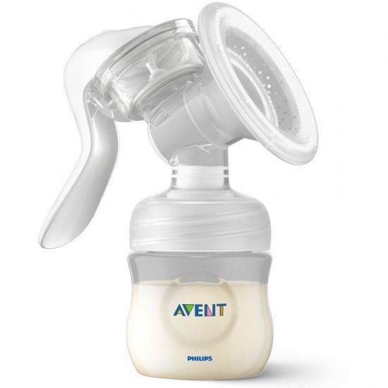 Philips AVENT Комплект Ръчна помпа за изцеждане на кърма Natural Motion с контейнери VIA, шишета за хранене Natural, несесер