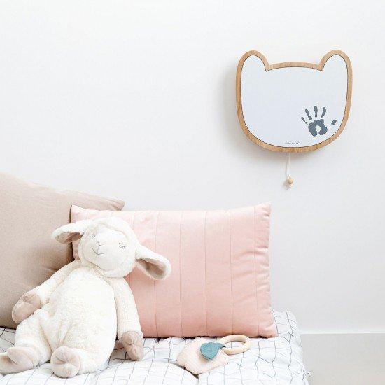 BABY ART Дървена музикална кутия за стена с отпечатък с боички