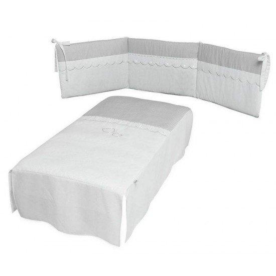 MICUNA Комплект Покривало с пълнеж и обиколник за легло 70/140 Valeria