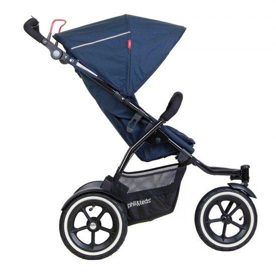 Phil & Teds Детска количка Sport V5 за едно или породени деца, Синя