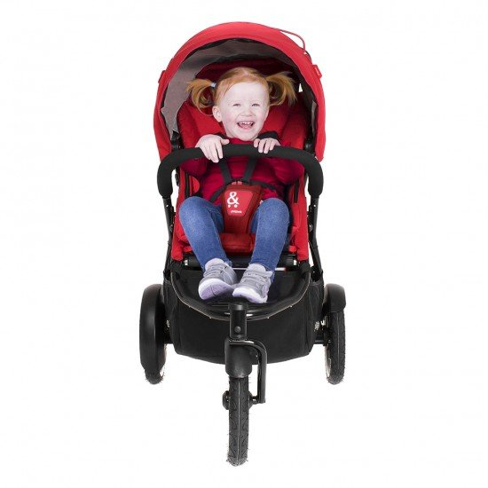 Phil & Teds Детска количка Sport V5 за едно или породени деца, червена