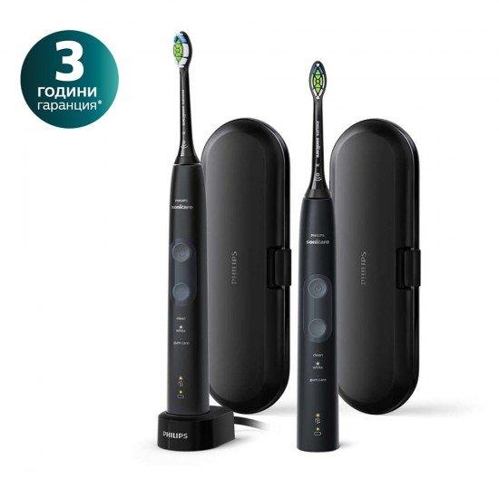 Philips Sonicare Комплект звукочестотни четки за зъби Protective Clean 5100, черни (2броя)