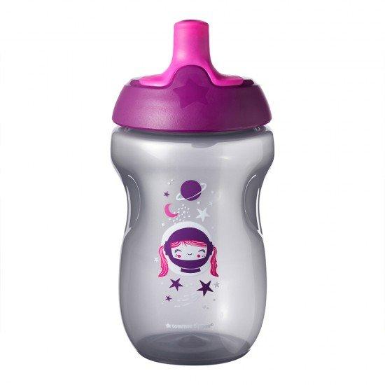 Tommee Tippee Неразливаща чаша със спортен накрайник 300 мл, Лилава, 12м+