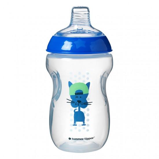 Tommee Tippee Преходна чаша с мек силиконов накрайник, 300мл, 12м+, Синя
