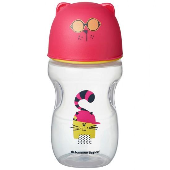 Tommee Tippee Преходна чаша с мек силиконов накрайник, 300мл, 12м+, Розова