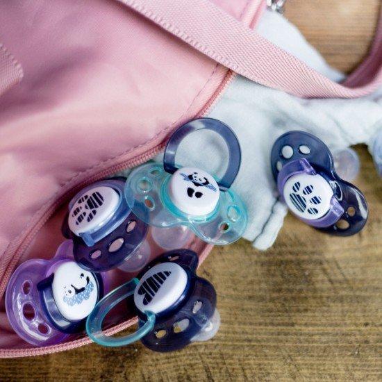 Tommee Tippee Ортодонтични залъгалки AnyTime 18-36м, 2 бр./оп., Розови панди