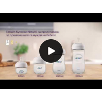Philips AVENT Шише за хранене Natural 125 мл, PP - лимитирана серия РОЗОВО