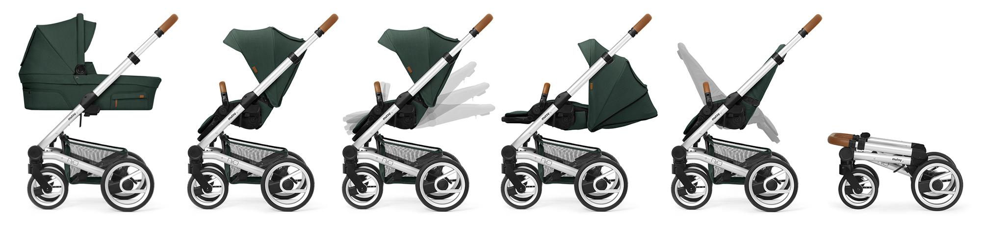 Детски колички Mutsy NIO са леки и маневрени за удобство както на бебето, така и на родителите!