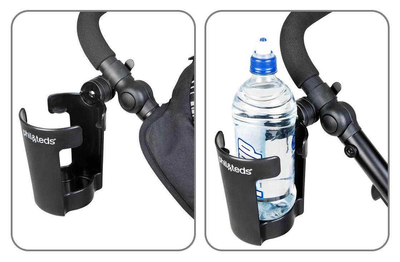 Phil & Teds Поставка за чаша или шише Vibe е удобен аксесоар за детската количка
