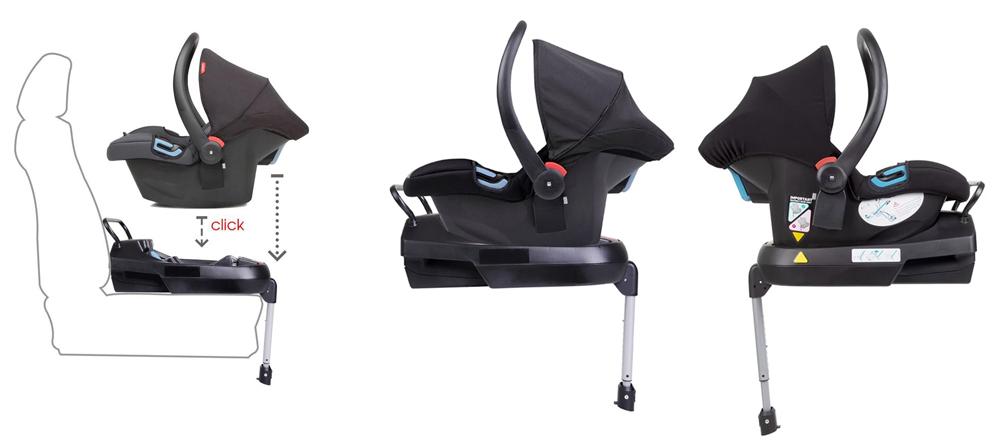 Основа BaseFix за поставяне в колата на столчета Phil&Teds Alpha и Mountain Buggy Protect