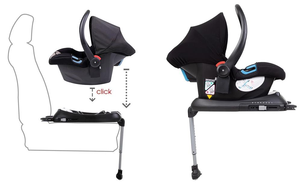 Основа IsoFix за столчета за кола Phil&Teds Alpha и Mountain Buggy Protect