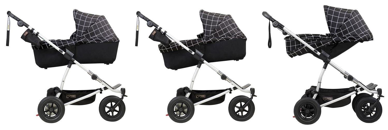 Mountain Buggy Кош за новородено PLUS за количка DUET предлага иновативно решение за родителите и дълготрайна употреба от раждането на детето до 3 годишна възраст
