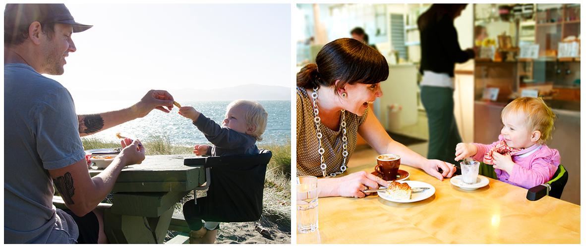 POD е подходящо както като постоянно решение за столче за хранене у дома така и за удобно решение за излети навън, в ресторанта или кварталното кафене