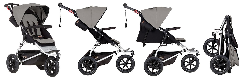 детска количка Mountain Buggy Urban Jungle подходяща за всякакви терени и дълготрайна употреба от новородено до деца на възраст 5 години