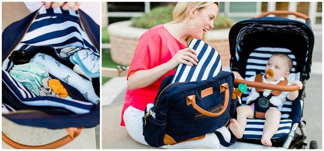 Удобната и функционална родителска чанта за количка Mountain Buggy побира всичко необходими бебешки принадлежности за ежедневните разходки или пътувания с бебето