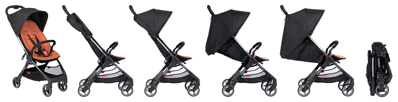 Трансформираща се детска количка Phil&Teds GO е изключително лека с тегло 5 кг и с едно от най-компактното сгъване на пазара