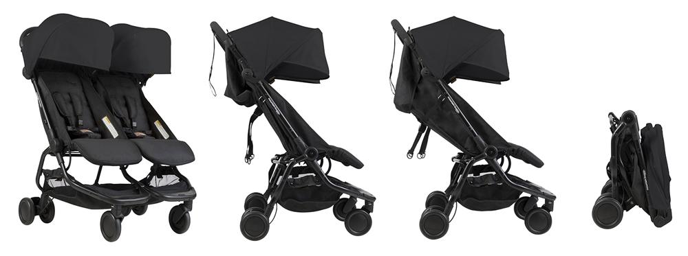 Детска количка Mountain Buggy Nano DUO за близнаци и породени деца
