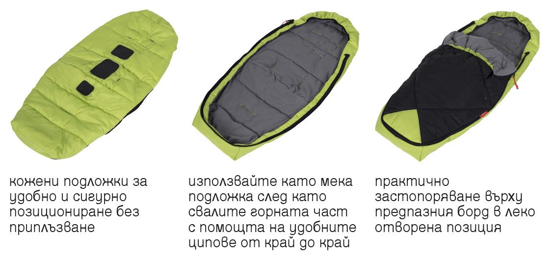 Phil & Teds Snuggle & Snooze с функционалност 2 в 1 – като спален чувал или като мека подложка