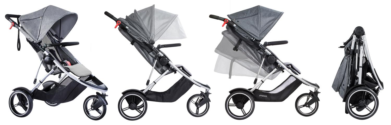 Количка за едно дете или породени деца Phil&Teds Dash V5 - красив и функционален дизайн за градски приключения в парка