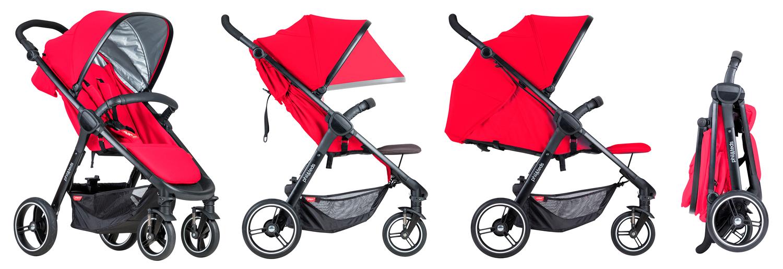 Phil&Teds Smart улеснява живота в града с малко дете, компактно сгъване с едно движение с крак